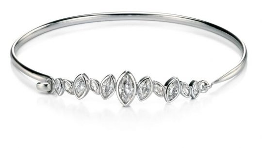 Fiorelli Silver CZ set Bangle