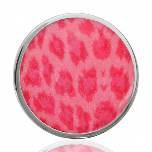 Nikki Lissoni Pink Leopard Print Medium Coin