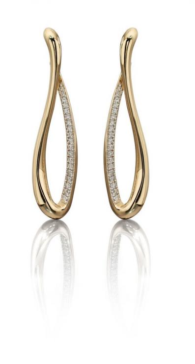 Fiorelli Gold – Diamond Infinity Earrings