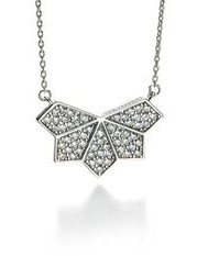 Fiorelli Silver CZ set Butterfly Necklace