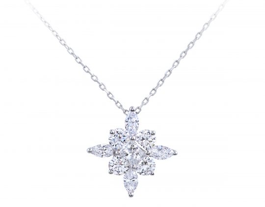 9 Diamond Star Set Pendant