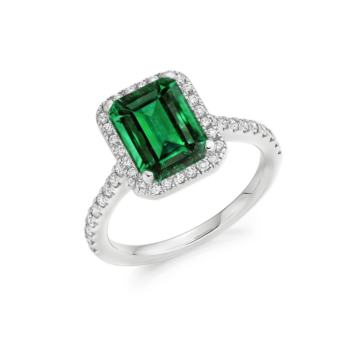 Raphael Collection Emerald Engagement Ring 1 Cole The