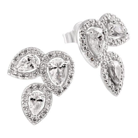 Diamonfire Pear Cut & Halo Earrings