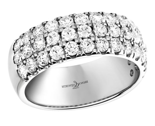 Brown & Newirth Diamond Half Hoop Triple Row Eternity Ring