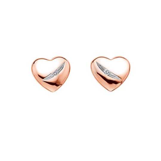 Hot Diamonds Rose Gold Heart Earrings