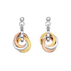 Hot Diamonds Bi-Colour Trio Earrings
