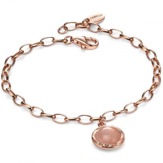 Fiorelli Rose Gold Plated & Pink Quartz Bracelet