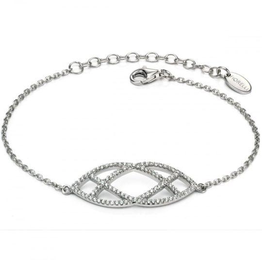 Fiorelli Ladies Silver CZ Marquise Pattern Bracelet