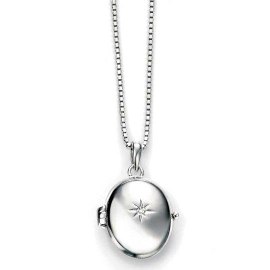 D For Diamonds Oval Cross Locket Pendant