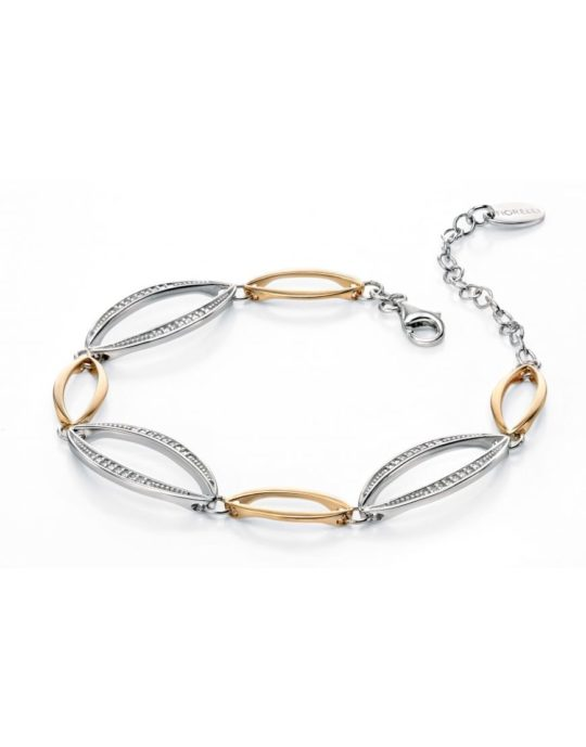 Fiorelli Silver & Gold plated Marquise Bracelet With Pave CZ