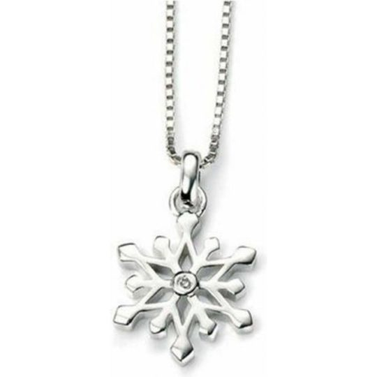 D For Diamonds Girls Snowflake Pendant