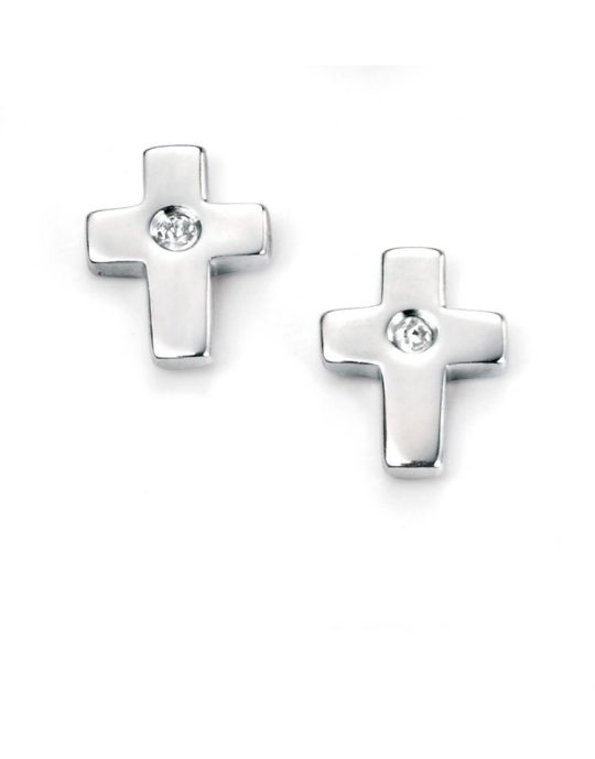 D For Diamonds Cross Earrings