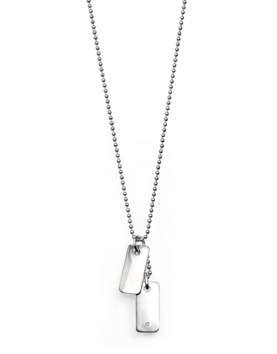 D For Diamonds Boys Double Dog Tag Necklace