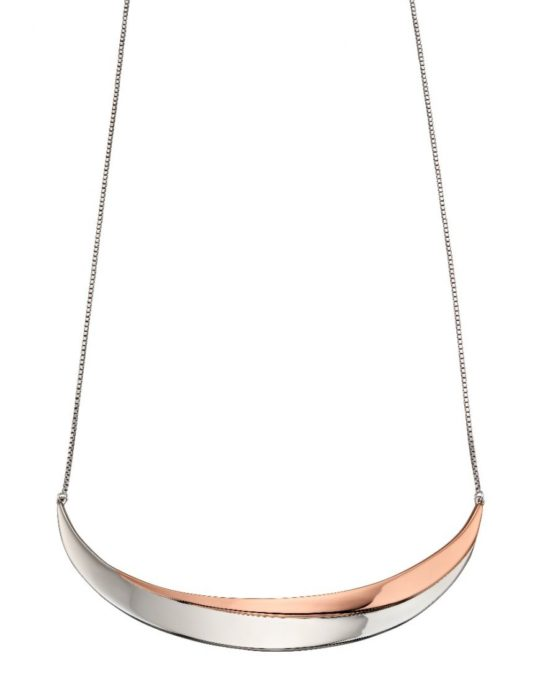 Fiorelli Rose Gold Plated Wave Collar