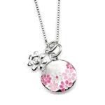 D For Diamonds Girls Round Flower Pendant