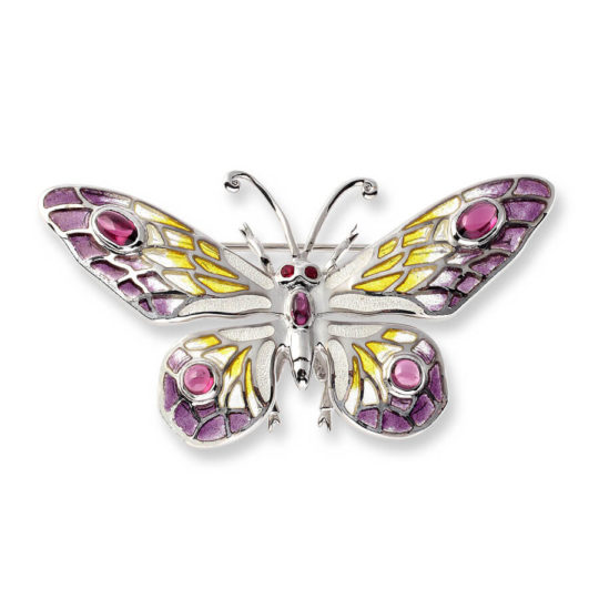 Purple Butterfly Brooch/Pendant