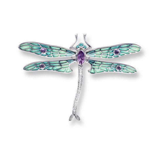 Green Dragonfly Brooch/Pendant