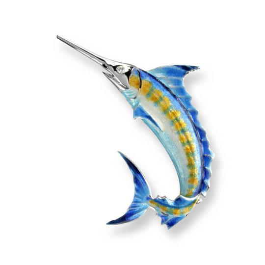 Blue Marlin Brooch/Pendant