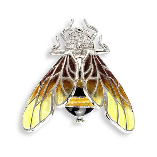 Yellow Brooch/Pendant Bee