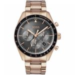 HUGO BOSS Trophy Rose Gold Plated Watch