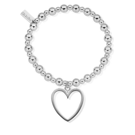 ChloBo Mini Small Open Heart Bracelet