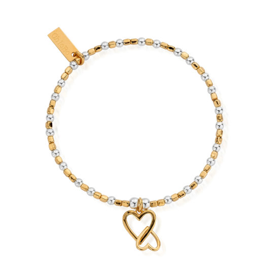 ChloBo Mini Cube Love Heart Bracelet