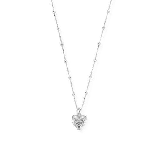 ChloBo Bobble Chain & Heart Necklace