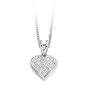 Diamond  Heart Cluster Pendant