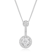Diamond Drop Cluster Pendant
