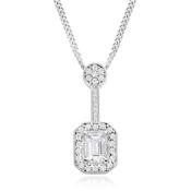 Diamond Drop Cluster Pendant
