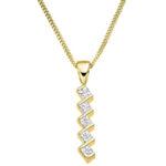 5 Stone Diamond Zigzag Pendant