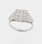 Art Deco Style Cluster Ring