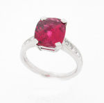 Rubelite & Diamond Dress Ring