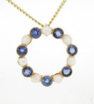 Victorian Sapphire and Pearl Pendant