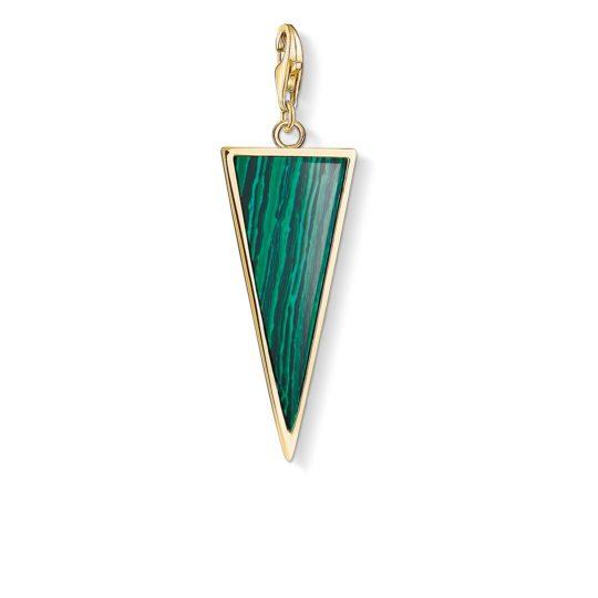 Thomas Sabo Green Triangle Charm