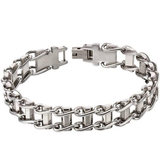 Fred Bennett Stainless Steel Bike Chain Bracelet
