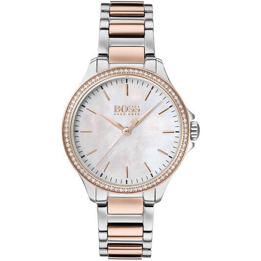BOSS Women Diamonds for Her Bi Colour Watch