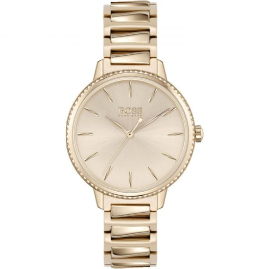 BOSS Women Signature Rose Gold Plated Watch