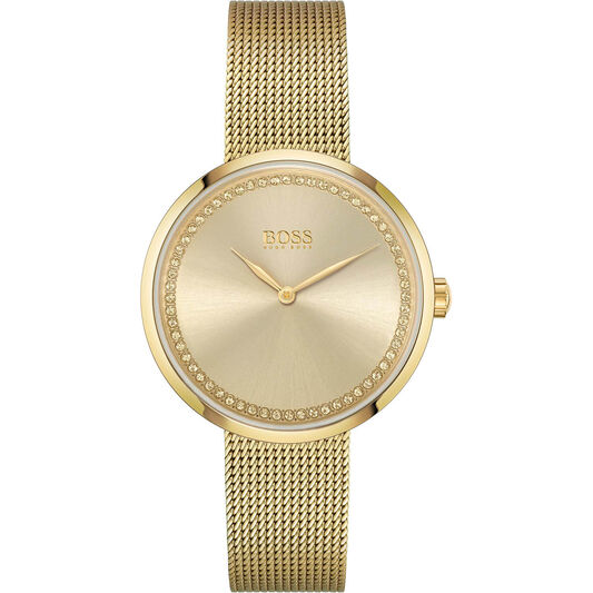 BOSS Women Praise Gold Plated Watch
