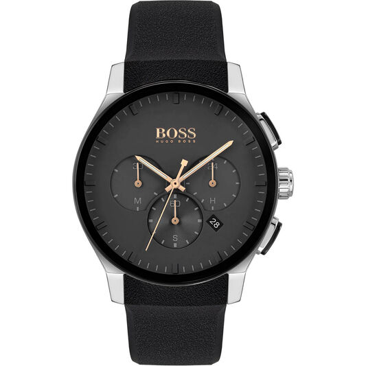 HUGO BOSS Peak Silicone Strap Watch