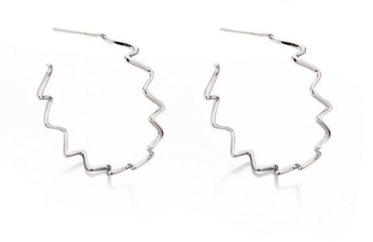 Elements Wavy Hoop Earrings