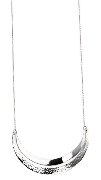 Elements Double Curved Bar Hammered Necklace