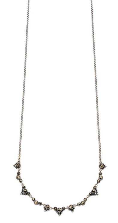 ELEMENTS DAINTY MARCASITE NECKLACE