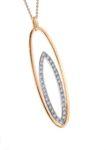 Oval Diamond Set Pendant