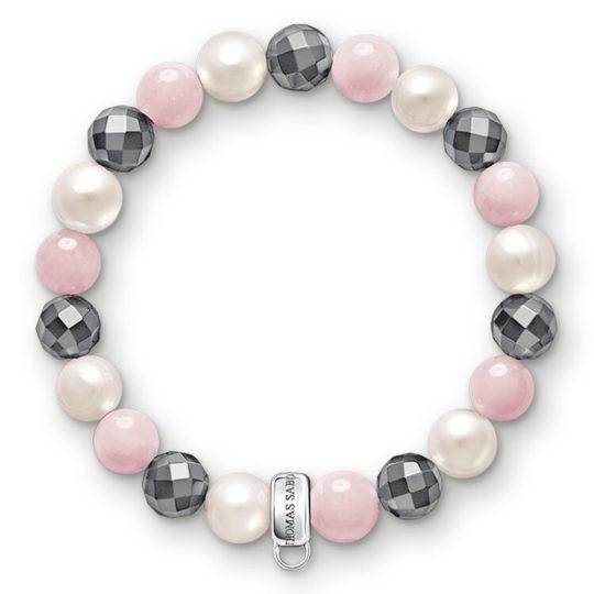 Thomas Sabo Pink,White, Grey Charm Bracelet