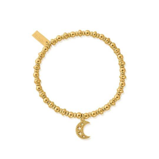 ChloBo Gold Plated Didi Sparkle Starry Moon Bracelet