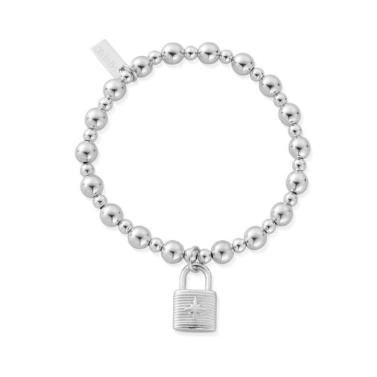 ChloBo Mini Small Ball Padlock Bracelet