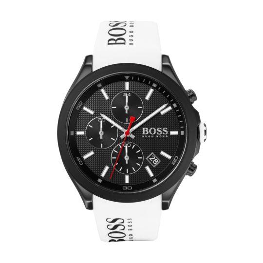HUGO BOSS Velocity IP Black Steel Watch