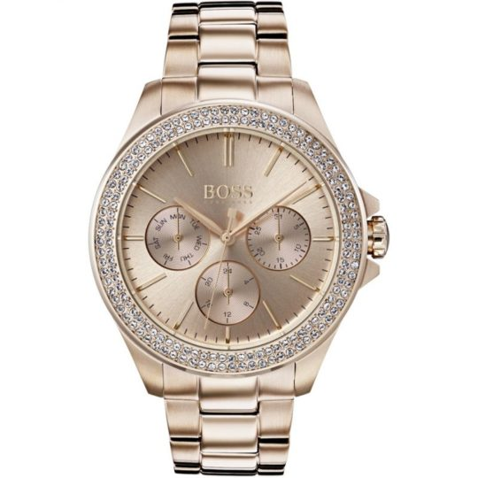 BOSS Women Premiere Rose Gold Plated Watch
